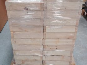 Caisse bois protection