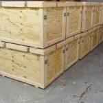 Caisse bois sur mesure pour stand