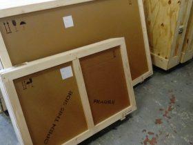 Caisse tableau bois – carton