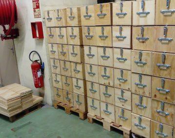 Caisse bois maritime industrie