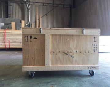Caisse bois transport