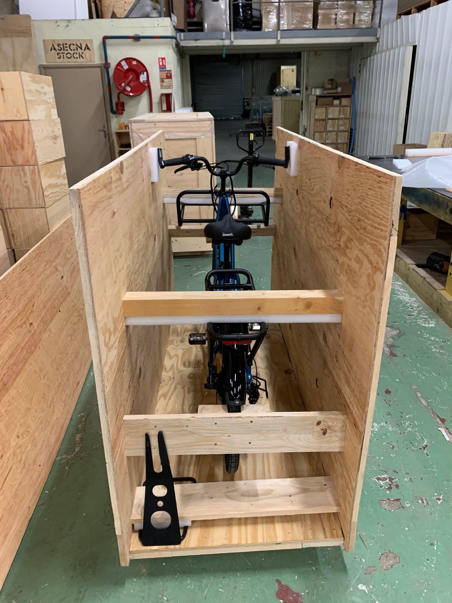 Caisse vélo pour l'export